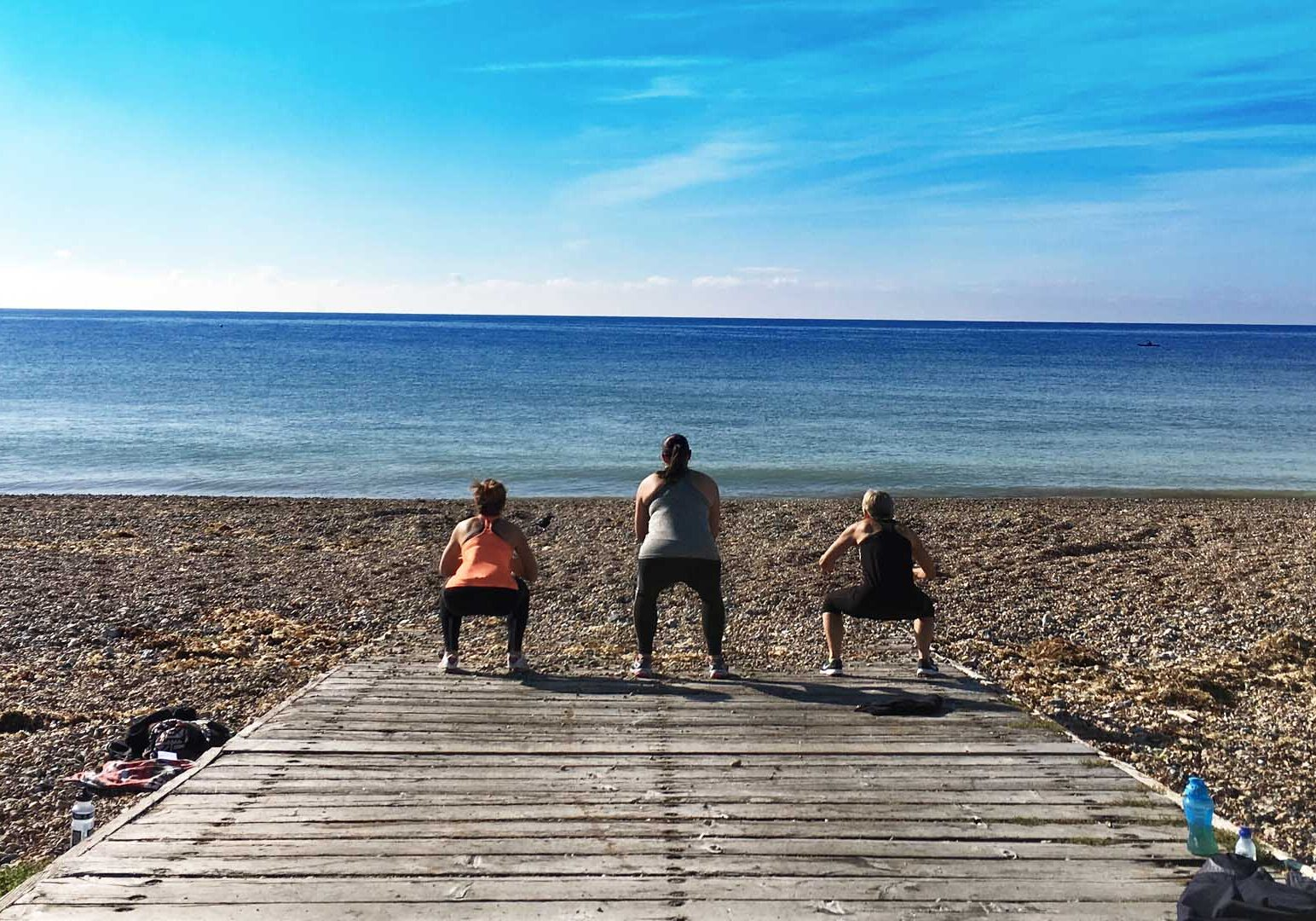 Bootcamp on the beach in Goring
