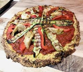 Cauliflower and Almond Crust Pizza